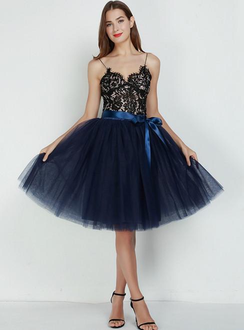 7 Layers Navy Blue Tulle Tutu Skirt
