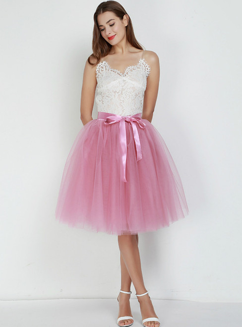 Rubber Red 7 Layers Tulle Tutu Skirt