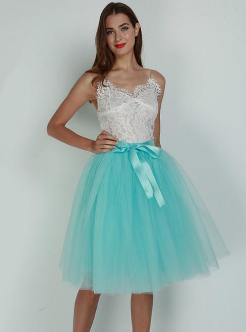 Sky Blue 7 Layers Tulle Tutu Skirt