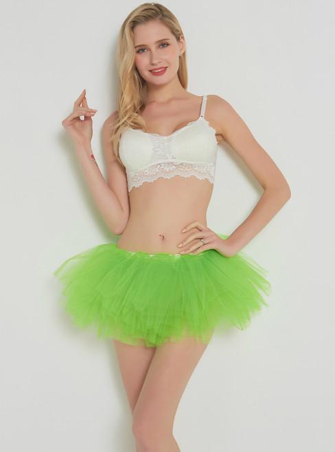 Fluorescent Green 5 Layer Mini Tutu Skirt