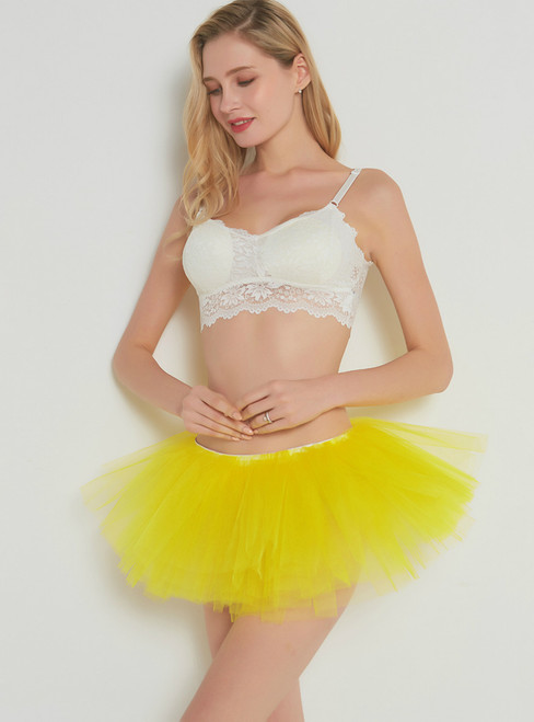 Yellow 5 Layer Mini Tutu Skirt