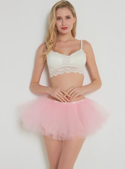 Light Pink 5 Layer Mini Tutu Skirt