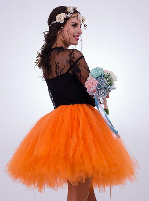 Orange Tulle Short Tutu Skirt