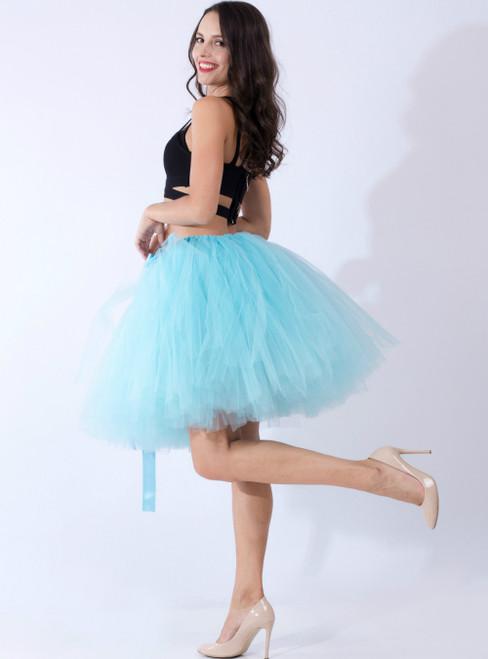 Sky Blue Tulle Short Dance Tutu Skirt