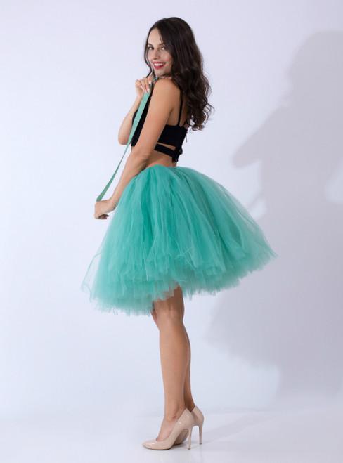 Light Green Tulle Short Dance Tutu Skirt