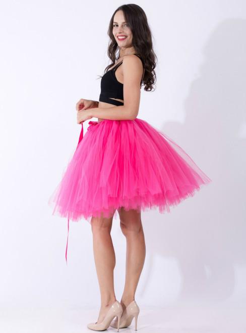 Fuchsia Tulle Short Dance Tutu Skirt