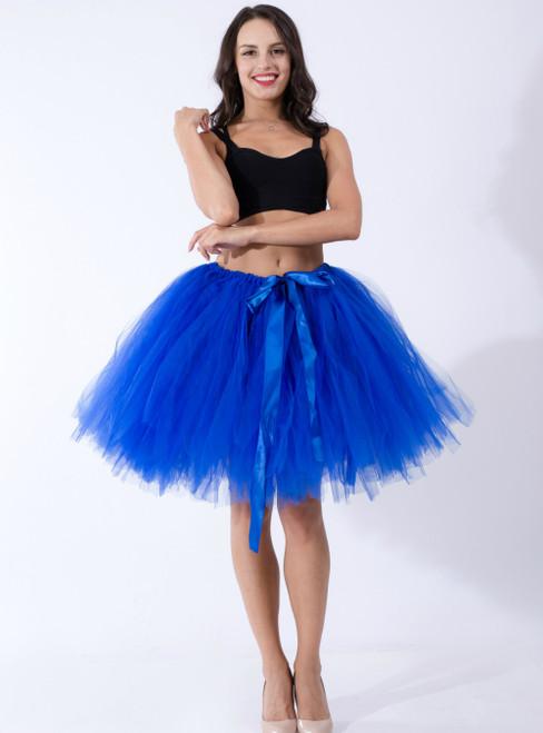 Royal Blue Tulle Short Dance Tutu Skirt