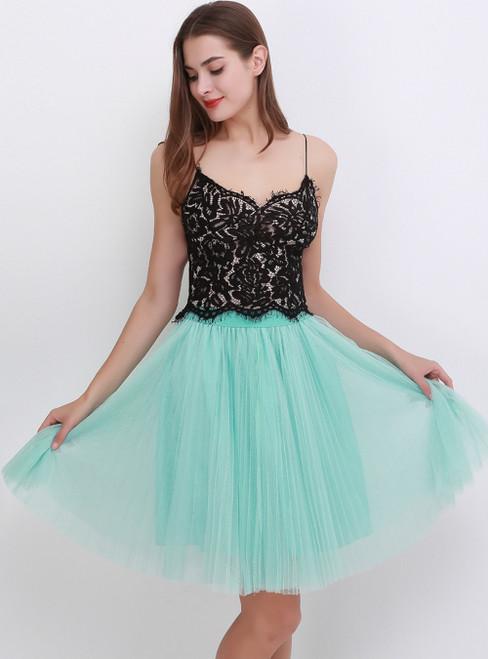 Mint Green Mesh Sweet Tulle Tutu Skirt