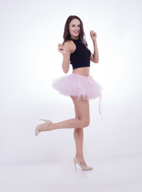 Light Pink Mini Tulle Dance Tutu Skirt
