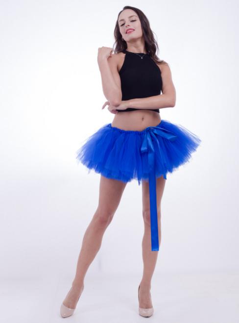 Royal Blue Mini Tulle Dance Tutu Skirt