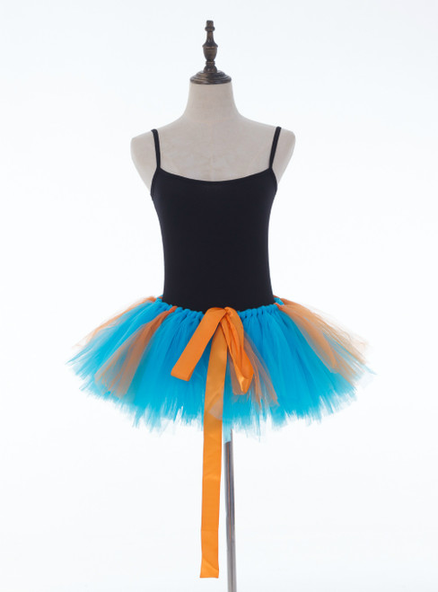 Blue + Orange Mini Tulle Dance Tutu Skirt