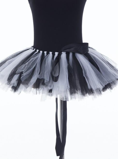 Black + White Mini Tulle Dance Tutu Skirt