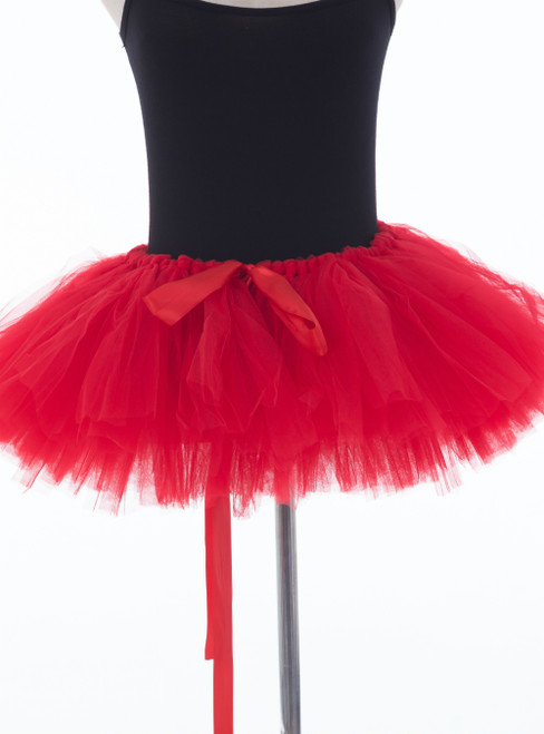 Red Mini Tulle Dance Tutu Skirt