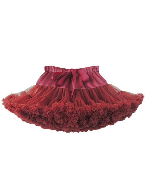 Dark Burgundy Tulle Tutu Skirt
