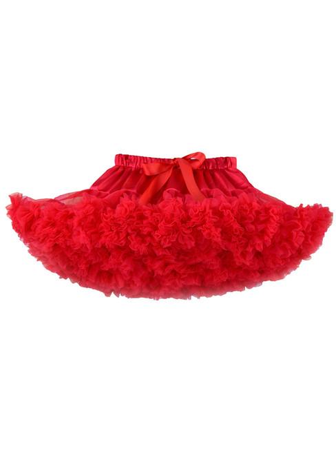 Red Girls Tulle Tutu Skirt