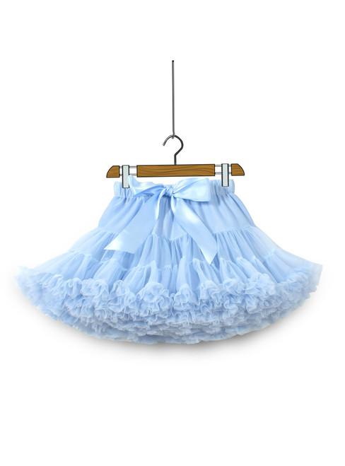 Sky Blue Tull Tutu Skirt