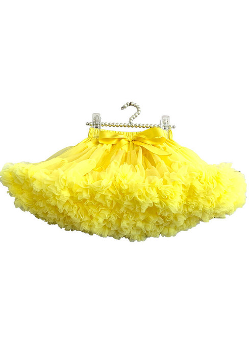 Yellow Girls Dance Tulle Short Tutu Skirt