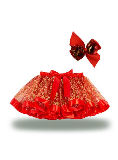 Christmas Skirts Printed Tutu Skirt