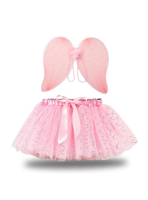 Pink Tulle Angel Wing Tutu Skirt