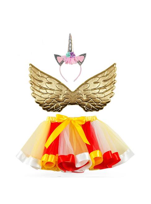 Girls Mesh Tutu Wings Skirt