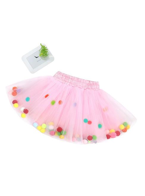 Girls Pink Tulle Tutu Skirt