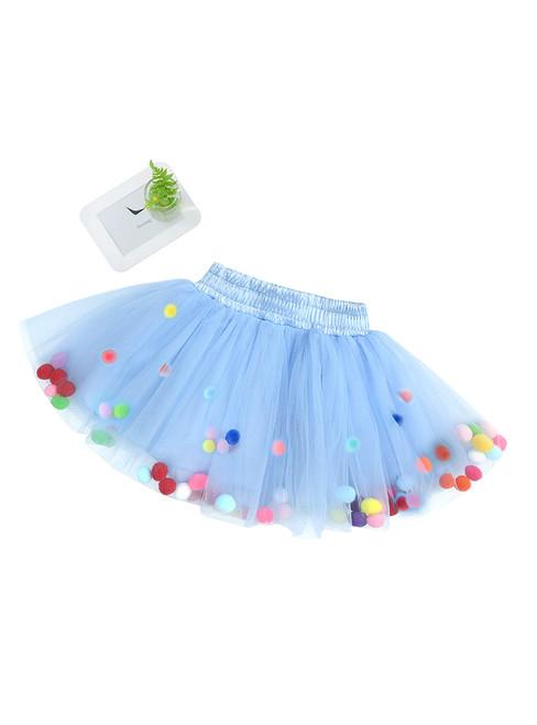 Girls Blue Tulle Tutu Skirt