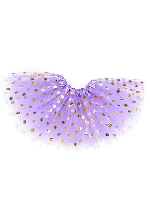 Light Purple Gild Point Tulle Tutu Skirts