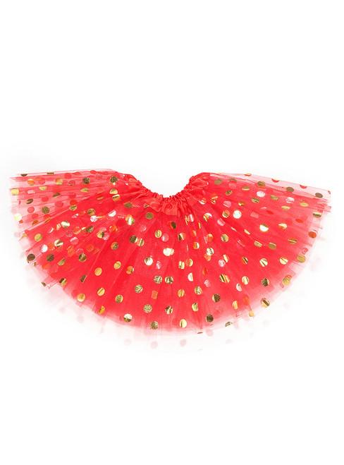 Red Gild Point Tulle Tutu Skirts