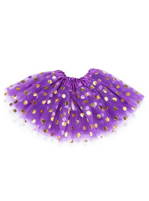 Dark Purple Gild Point Tulle Tutu Skirts