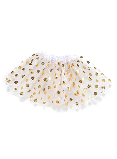 White Gild Point Tulle Tutu Skirts
