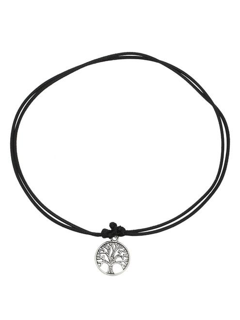 Black Tree-Shaped Pendant Necklace