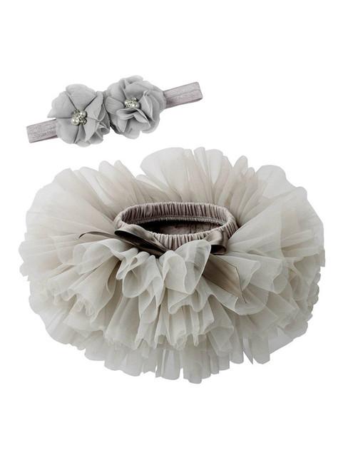 Gray Tulle Litter Baby Tutu Skirt
