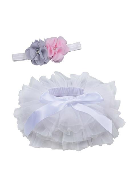 White Tulle Litter Baby Tutu Skirt