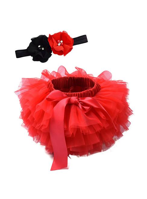 Red Tulle Litter Baby Tutu Skirt