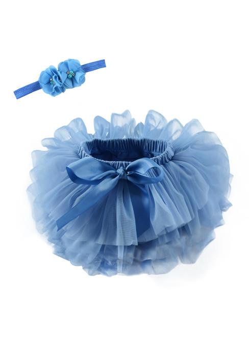 Dark Blue Tulle Litter Baby Tutu Skirt