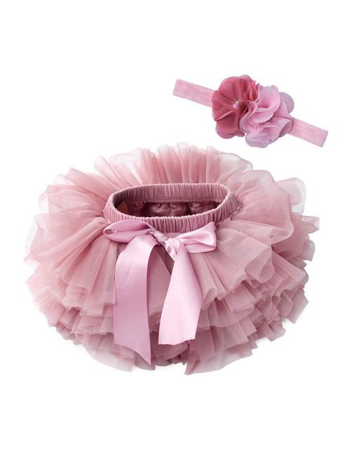 Pink Tulle Litter Baby Puff Tutu Skirt