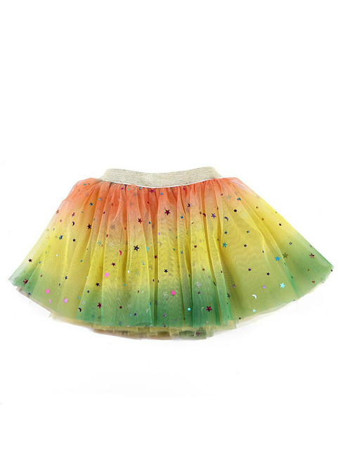 Baby Girl's Rainbow Tulle Tutu Skirt