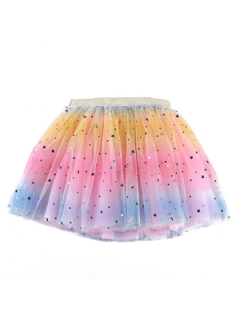 Baby Rainbow Tulle Sequins Tutu Skirt