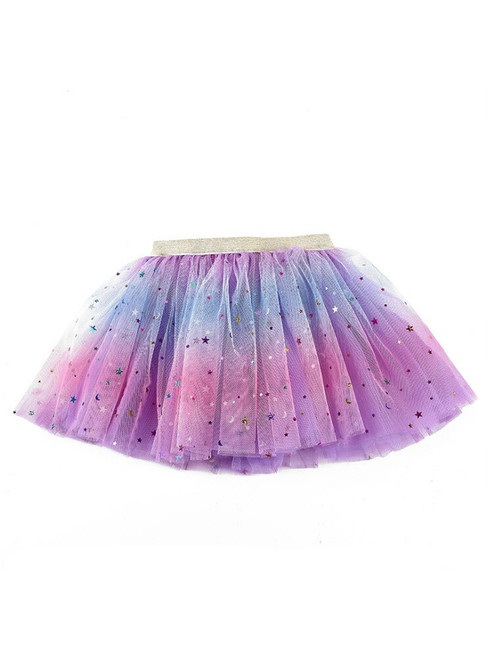 Litter Girls Rainbow Tulle Sequins Tutu Skirt