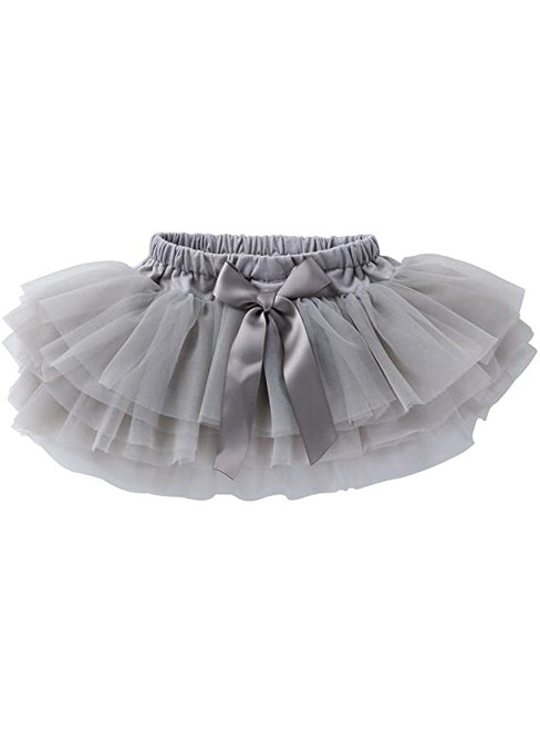Gray Cute Litter Girl Tulle Tutu Skirt