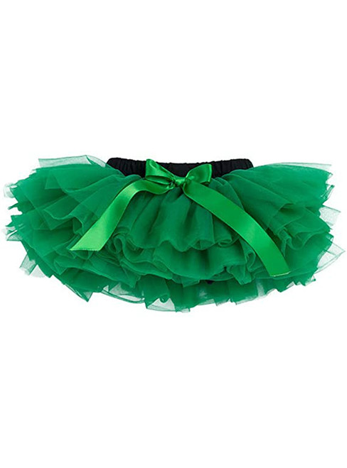 Dark Green Cute Litter Girl Tulle Tutu Skirt
