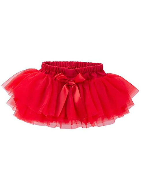 Red Cute Litter Girl Tulle Tutu Skirt