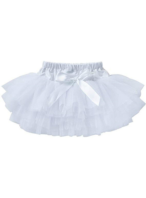 White Cute Litter Girl Tulle Tutu Skirt