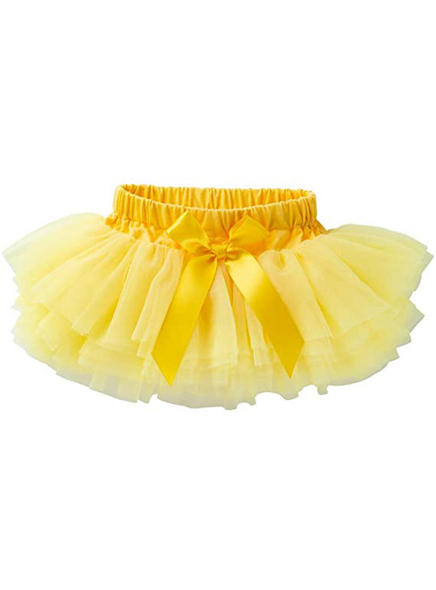 Yellow Cute Litter Girl Tulle Tutu Skirt
