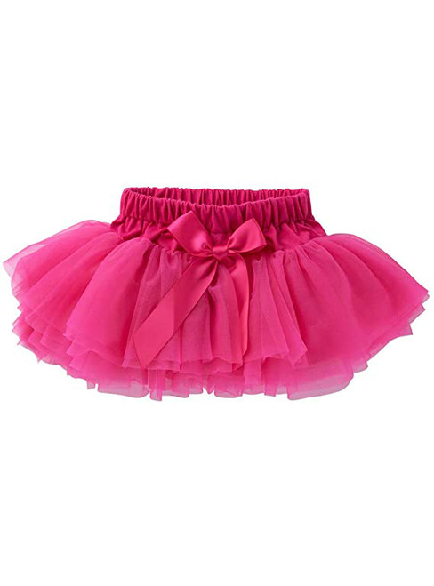 Fuchsia Cute Litter Girl Tulle Tutu Skirt