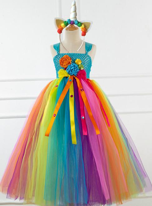 Girl Colorful Tulle Handmade Costumes Dress Tutu Skirt