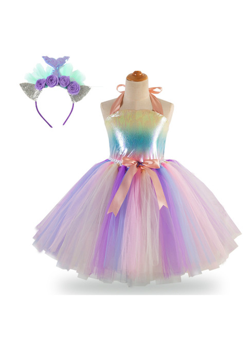 Handmade Girls Tutu Dress Costume Tulle Dress