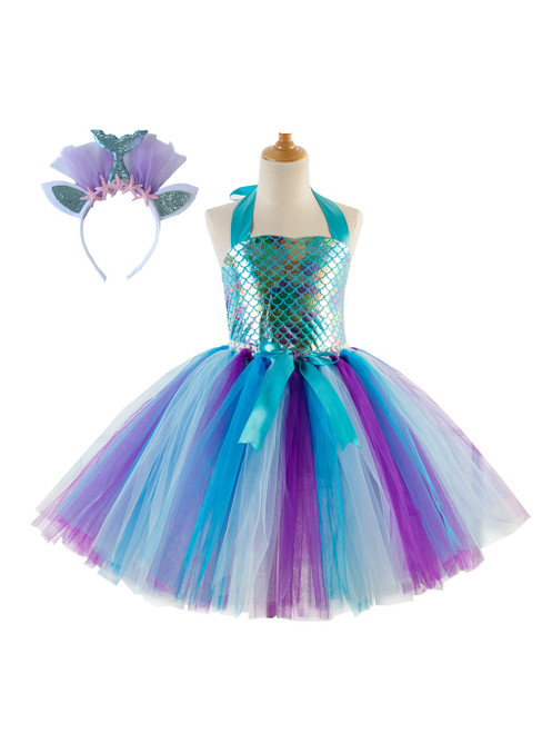 Mermaid Handmade Girls Tutu Costume Tulle Dress
