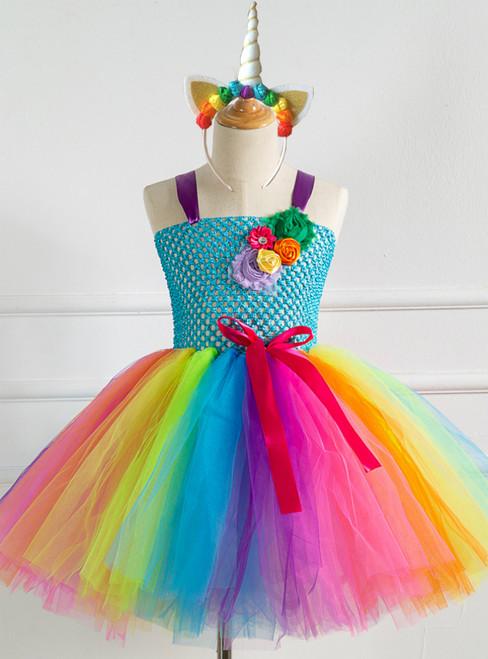 Girls Tulle Tutu Birthday Party Dress