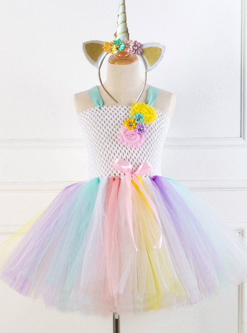 Girl Handmade Party Tulle Tutu Dress